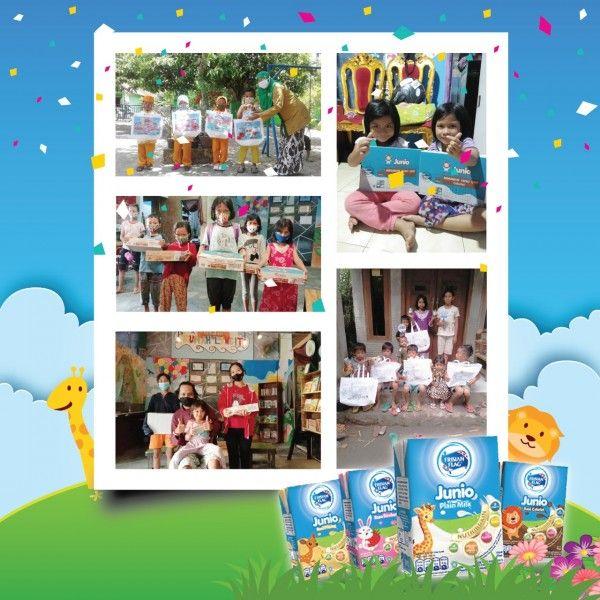 Frisian Flag Junio, Donasikan 2.700 Karton Susu untuk Bantu Penuhi Nutrisi Anak Usia Golden Periode