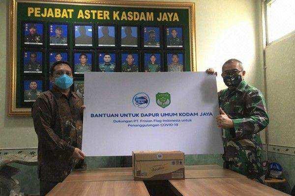 Puluhan Ribu Produk Susu Cair Siap Minum di Donasikan untuk Dapur Umum Kodam Jaya