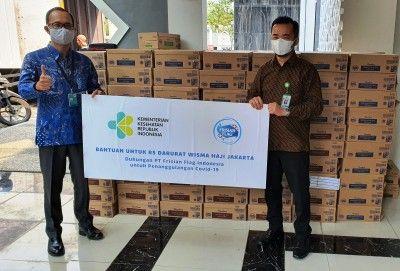 Dukung Pemerintah, FFI Salurkan 15 Ribu Kotak Susu untuk RS Darurat Covid-19 Asrama Haji Pondok Gede