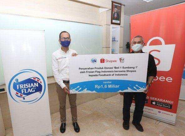 Lipatgandakan Kebaikan Masyarakat, Frisian Flag Indonesia dan Shopee Realisasikan Donasi 'Beli 1 Sumbang 1' Senilai Rp 1,6 Miliar