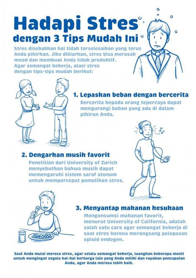 Hadapi Stres dengan 3 Tips Mudah Ini