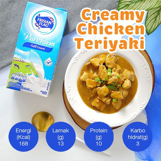 Creamy Chicken Teriyaki: 3 Porsi
