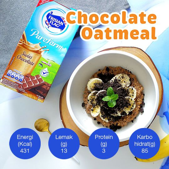 Chocolate Oatmeal: 1 Porsi