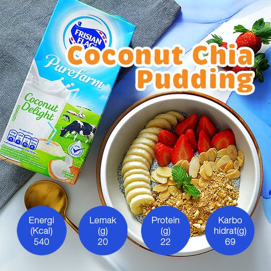 Coconut Chia Pudding: 1 Porsi