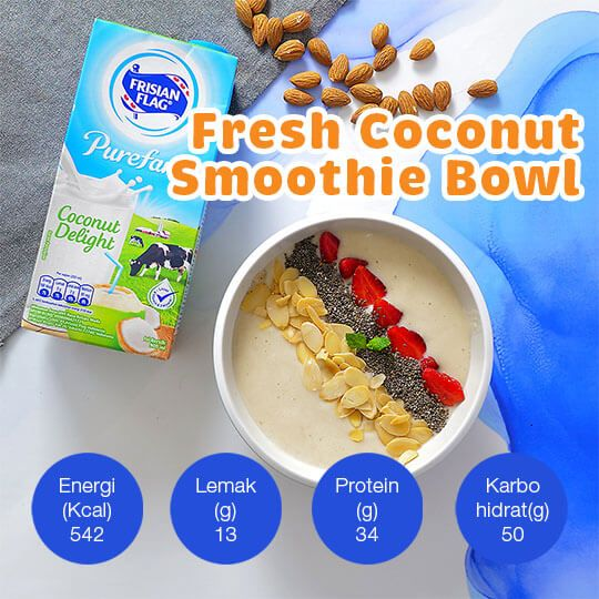 Fresh Coconut Smoothie Bowl: 1 Porsi