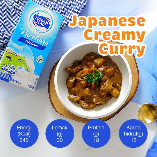 Japanese Creamy Curry: 2 Porsi