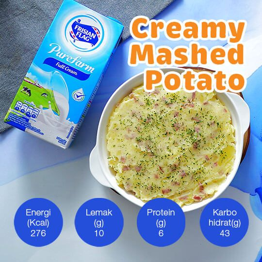 Creamy Mashed Potato: 2 Porsi