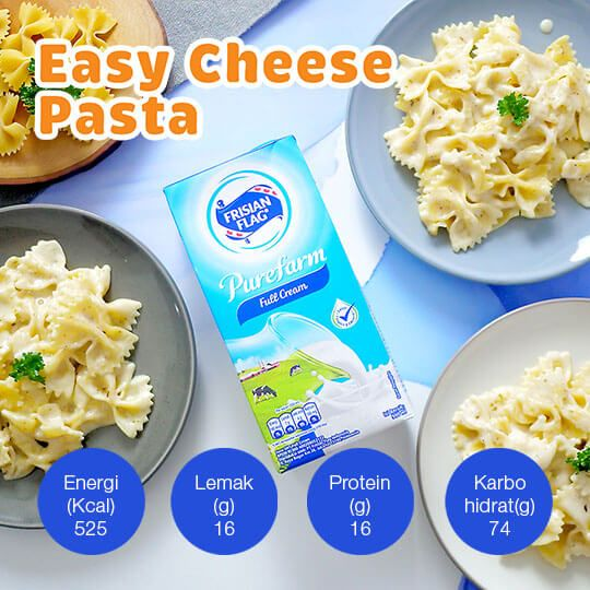Easy Cheese Pasta: 3 Porsi