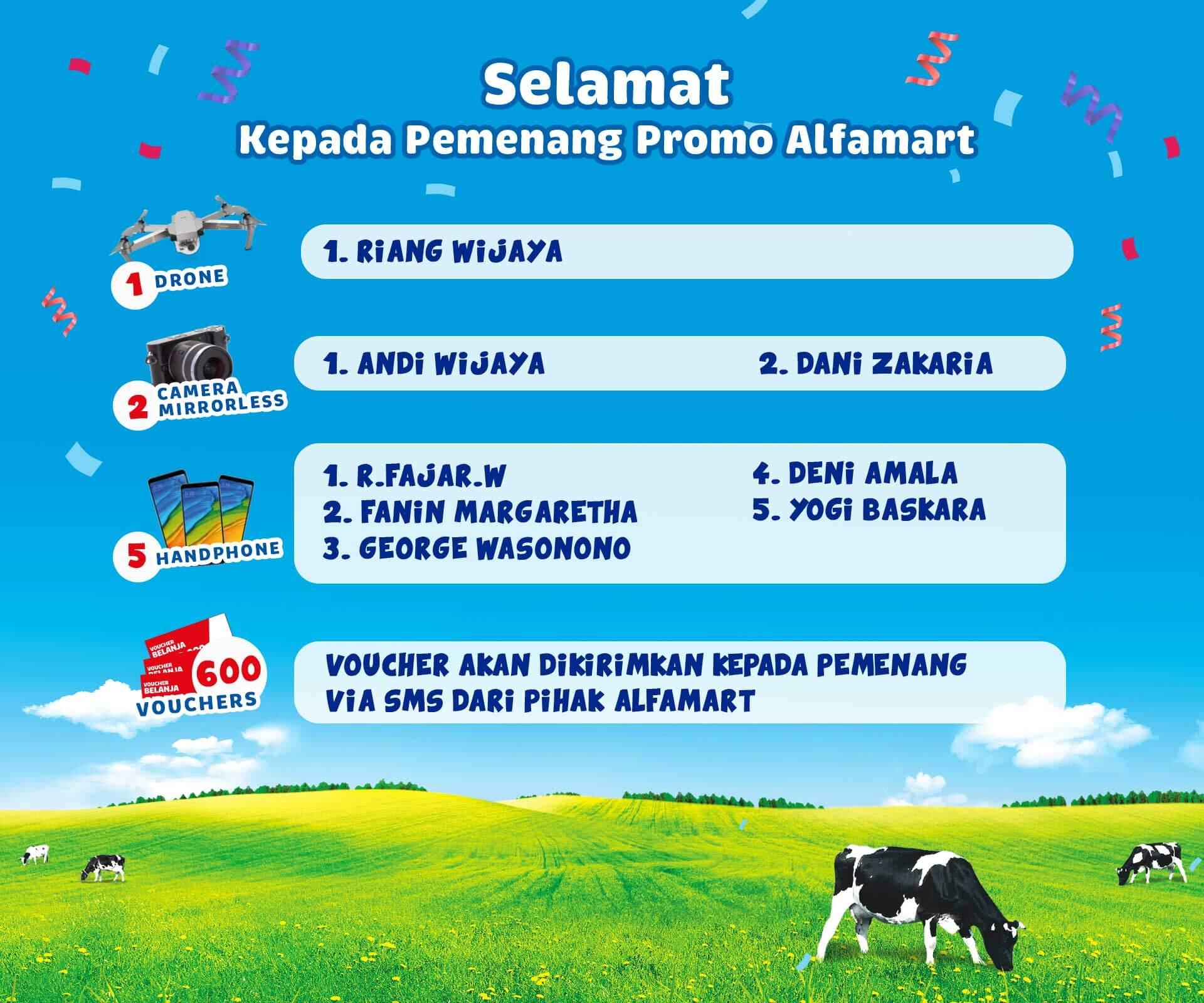 Daftar Pemenang Promo Alfamart